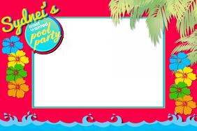 Pool Party - Party Prop Frame