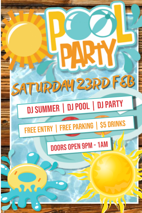 Pool Party Poster