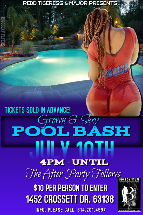 POOL PARTY FLYER · Customize Template