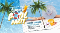 Pool Party Twitter Post Twitter-bericht template