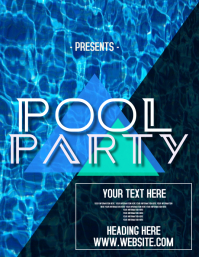 POOL SUMMER PARTY AD FLYERS