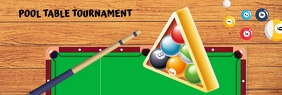 Pool Table Tournament Spanduk LinkedIn template