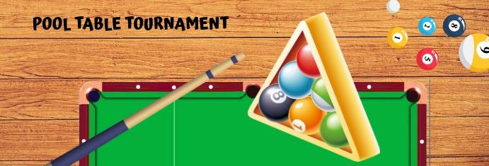 Pool Table Tournament แบนเนอร์ LinkedIn template