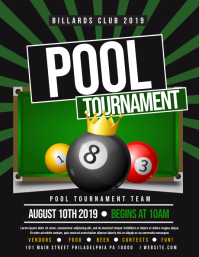 Pool tournament Flyer (US Letter) template