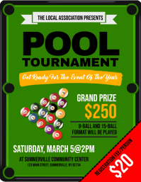 Pool Tournament Flyer