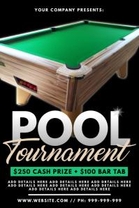Pool Tournament Poster