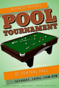 Pool Tournament Poster Template