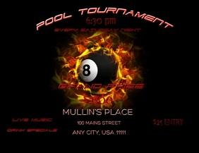 Pool Tournament Video Flyer