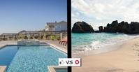 Pool vs Beach Facebook Event Cover template