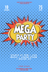 Pop Art Party Flyer Template