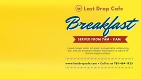 Pop Art Yellow Breakfast Display Advert