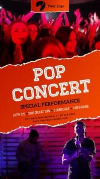 Pop Concert Digital signage multiple video template