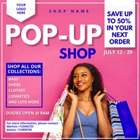 Pop Up Boutique Flyer Instagram Post template