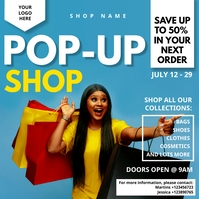 Pop Up Boutique Flyer Instagram Plasing template