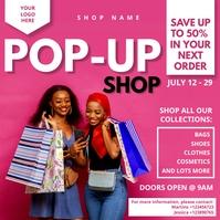 Pop Up Boutique Flyer Publicação no Instagram template