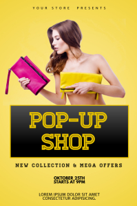 Pop up shop Flyer Poster Template