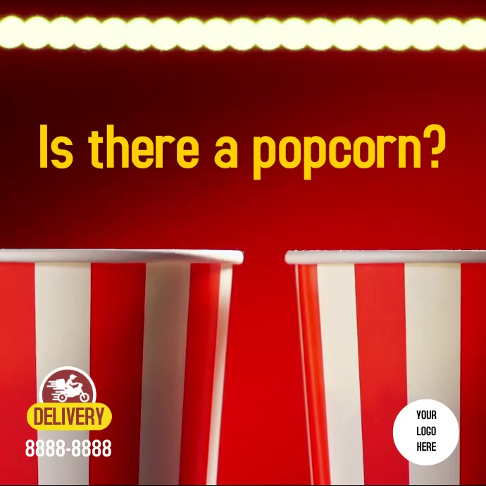 Popcorn Instagram template