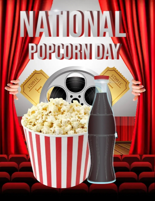 popcorn night template