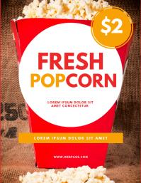 Popcorn Stand Flyer Design Template