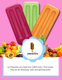 Popsicle Flyer Folheto (US Letter) template
