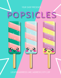 Popsicles For Sale Template