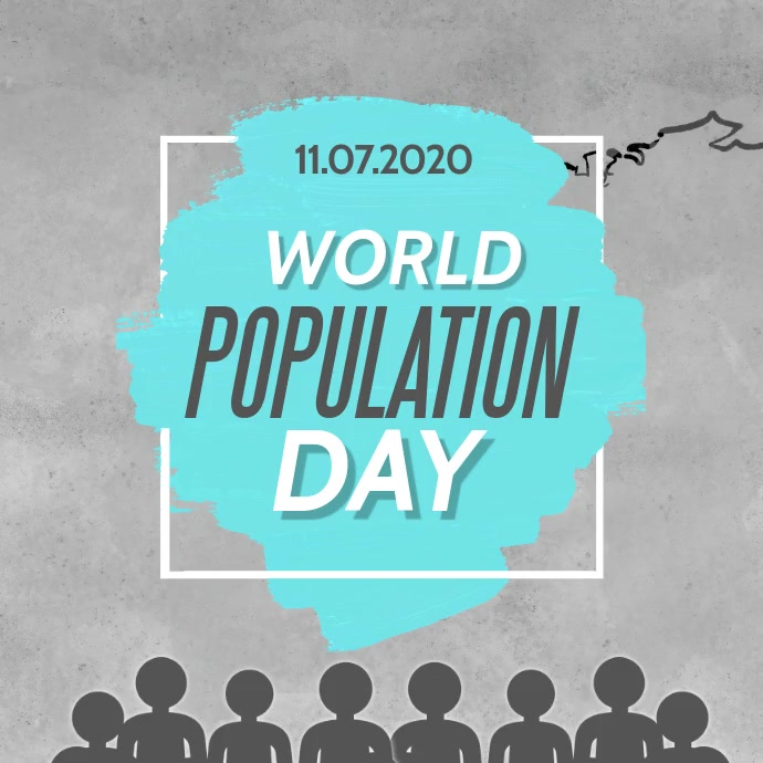population day video Квадрат (1 : 1) template