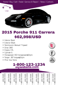Porche Sale Template