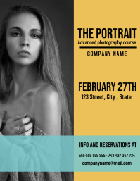 portait photography course flyer