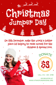 Portrait Christmas Jumper Day Poster