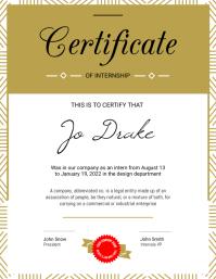 Portrait Internship Certificate