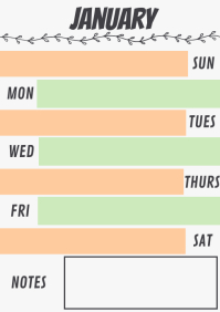 portrait weekly planner