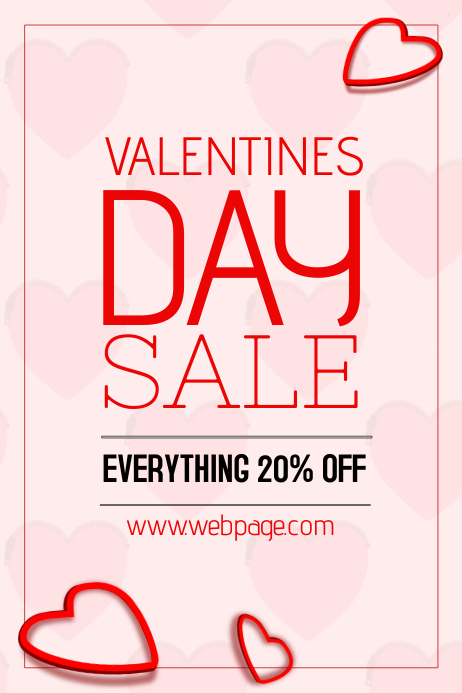 portraot valentines sale poster