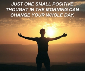 POSITIVE AND MORNING QUOTE TEMPLATE Mittelgroßes Rechteck