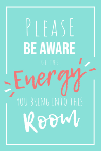 Positive Energy Poster