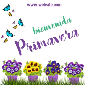 Post Bienvenida Primavera instagram
