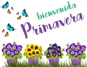 Post Bienvenida Primavera volante Løbeseddel (US Letter) template