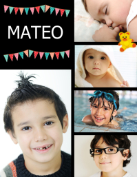 post collage de libro de fotos familiares Ulotka (US Letter) template