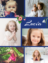 post collage de libro de fotos familiares Flyer (US Letter) template