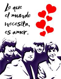 post con mensaje de The Beatles volante