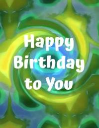 post de cumpleaños video volante