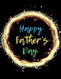 post de Día del Padre video volante template