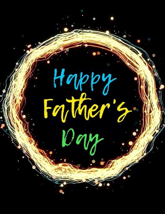 post de Día del Padre video volante Pamflet (Letter AS) template