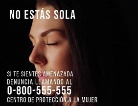 post de denuncia por violencia y acoso sexual Flyer (US Letter) template