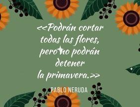 post inspirador con poema de Neruda