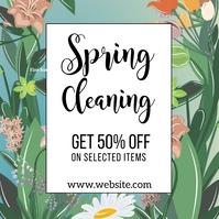 post instagram de limpieza de primavera template