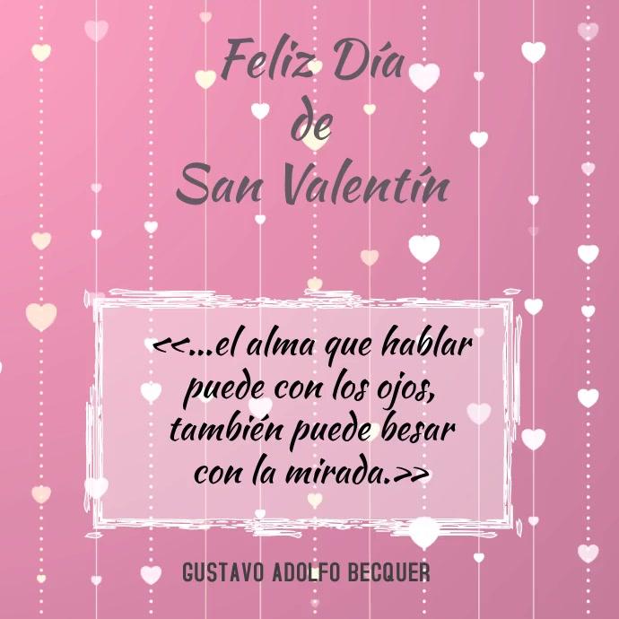 post instagram para tarjeta de san valentin Instagram-opslag template