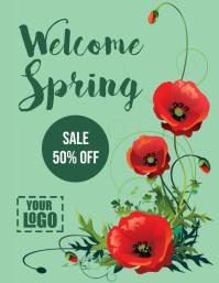 post volante de Bienvenida Primavera Folder (US Letter) template
