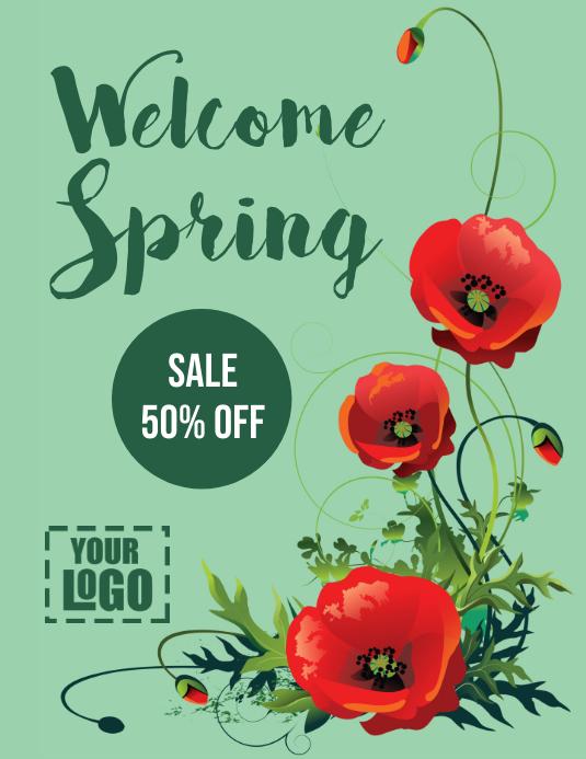 post volante de Bienvenida Primavera Flyer (Letter pang-US) template