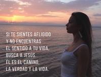 post volante de esperanza Busca a Jesús Flyer (Letter pang-US) template