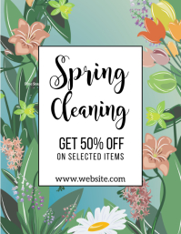 post volante de limpieza de primavera Volantino (US Letter) template